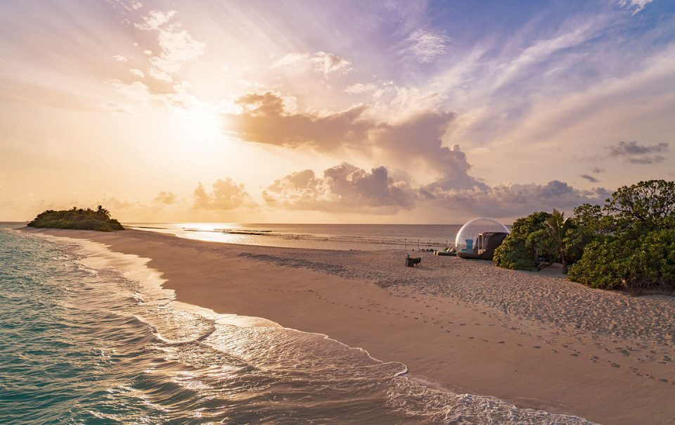 The Beach bubble by sunset