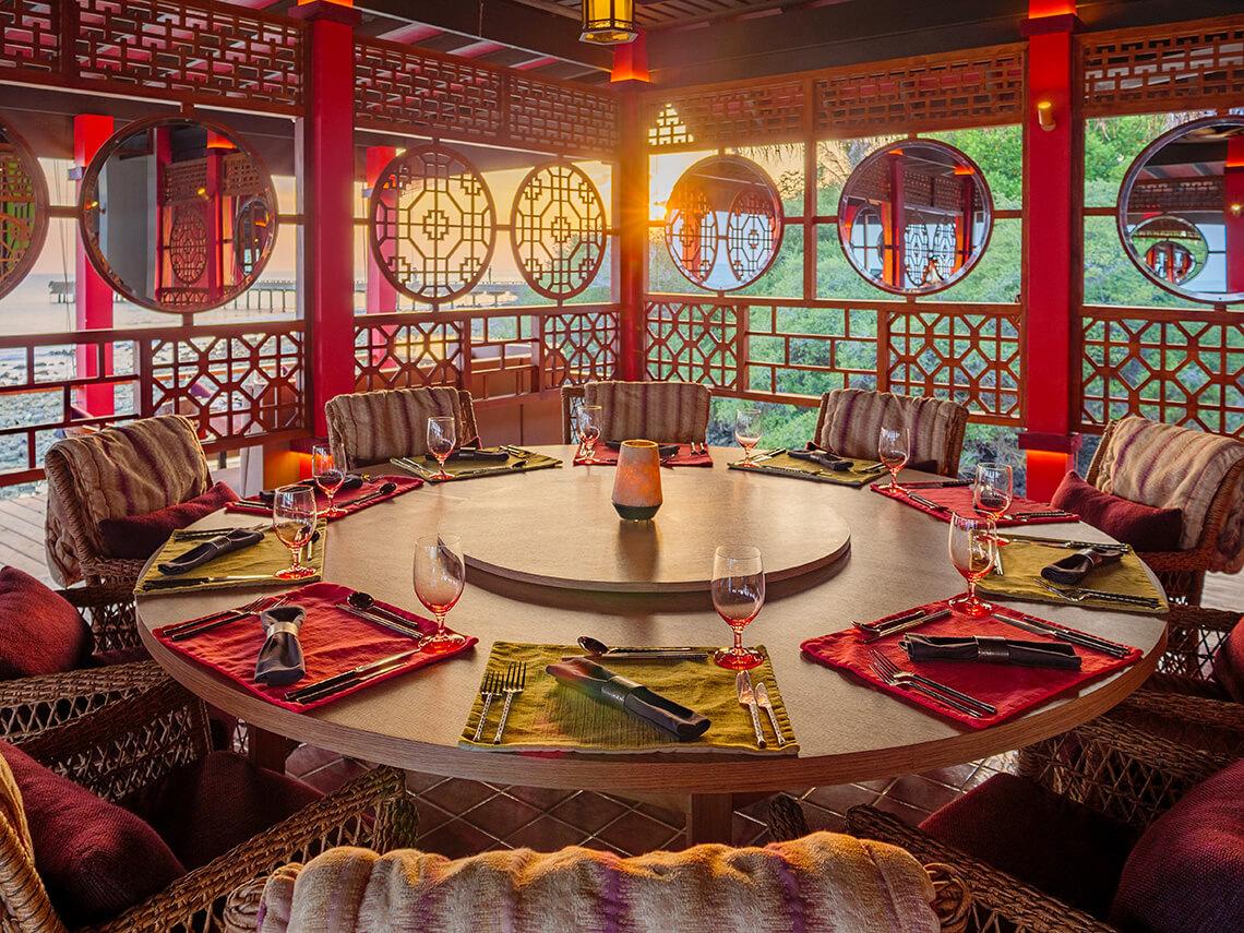 Finolhu's premium dining venue Kanusan