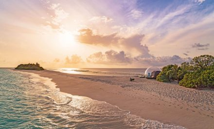 Luxurious glamping on the beach