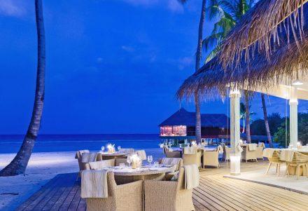 The Baahaa grill Restaurante in evening twilight