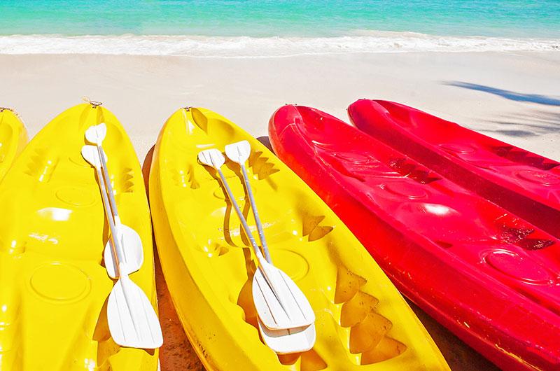 Finolhu watersports kayak