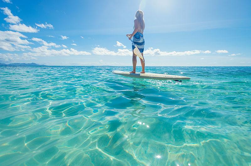 Finolhu watersports stand up paddle