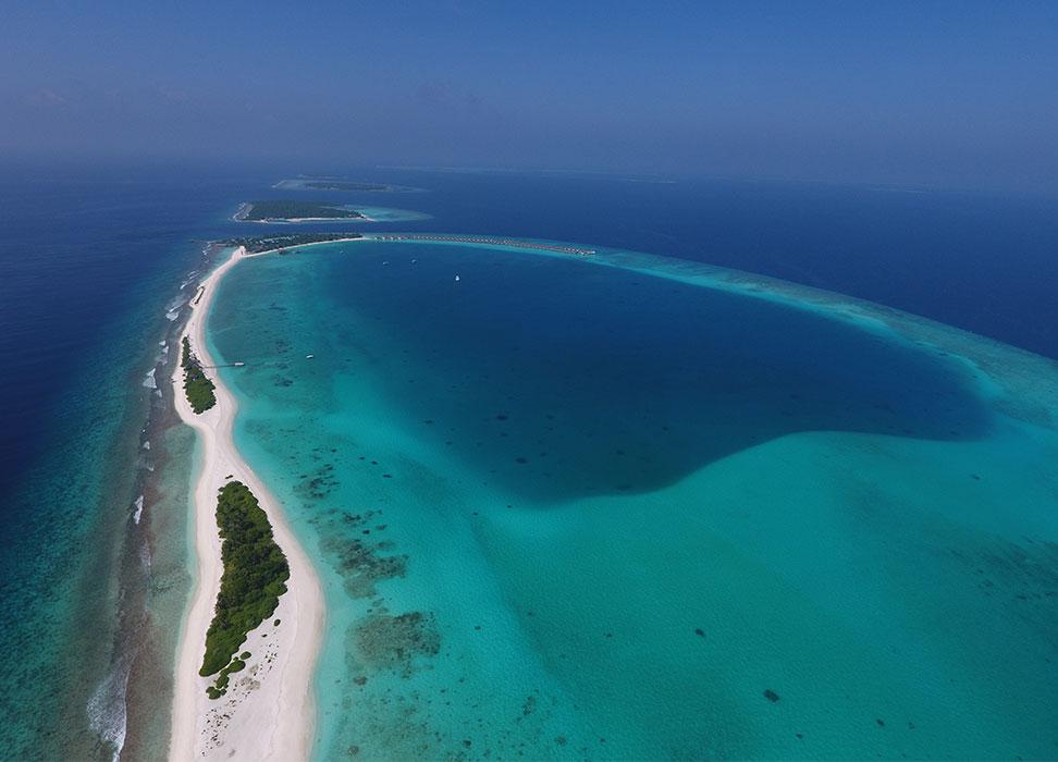 Finolhu Baa Atoll from above