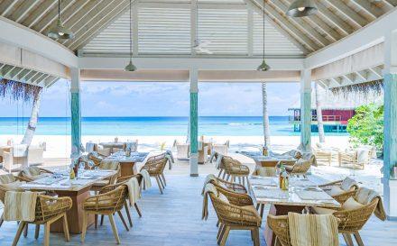 open air restaurante at beach