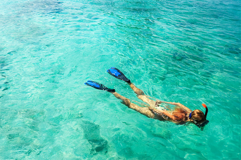 Snorkeling excursions at Finolhu