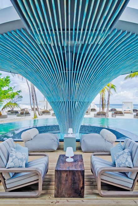 Chill area of the beach club