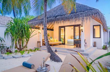 Private beach Villa at Finolhu