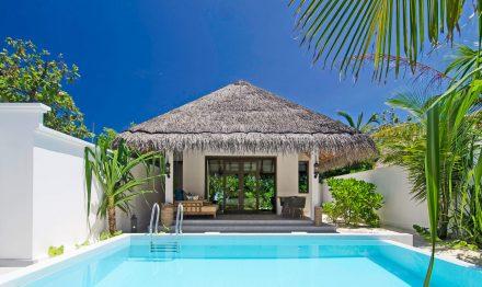 Private Beach Pool Villa at finolhu