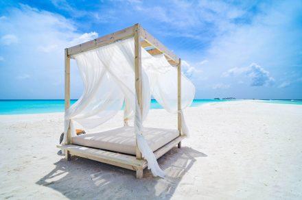 relaxing on sandbank