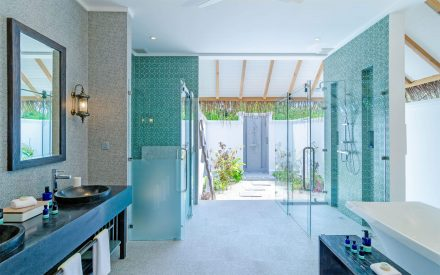 the luxury bathroom from the Beach Villa