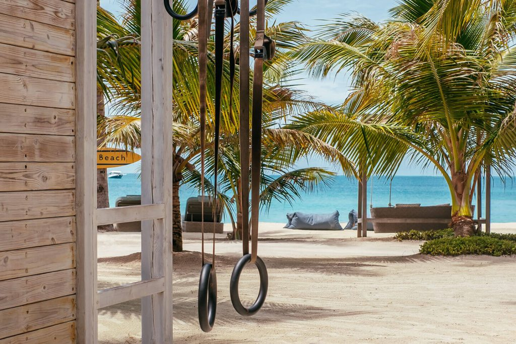 fitness gym or yoga pavillon at maldives