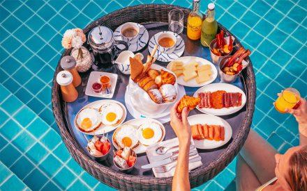 desayuno flotante de lujo