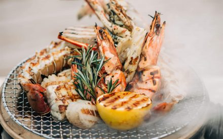 shrimps and lobster at crab shack finolhu