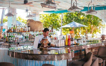 cocktail bar at beach club
