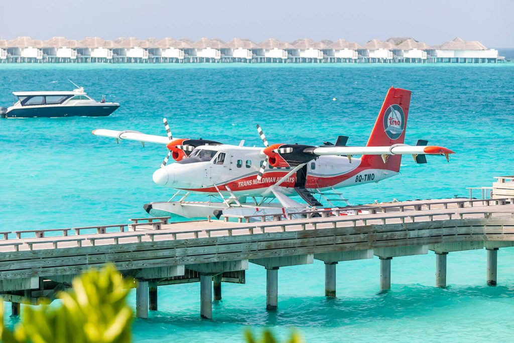 seaplane transfer for the baa atoll