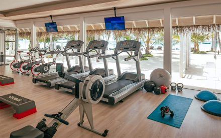 Indoor fitness club at finolhu