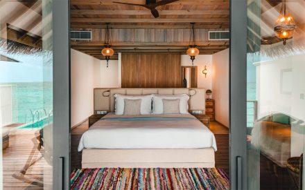 Ocean Pool villa con una cama de king size