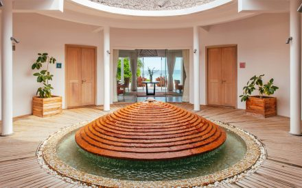 The entrance from spa area on finolhu, maldives