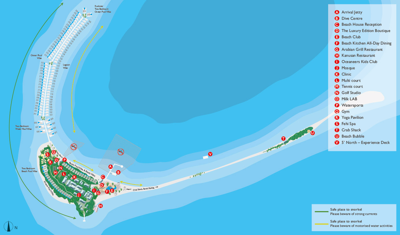 Finolhu Insel Resort Map