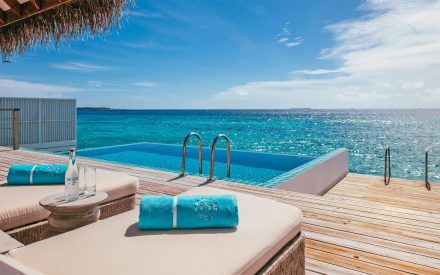 dreamy view from your own villa with private pool