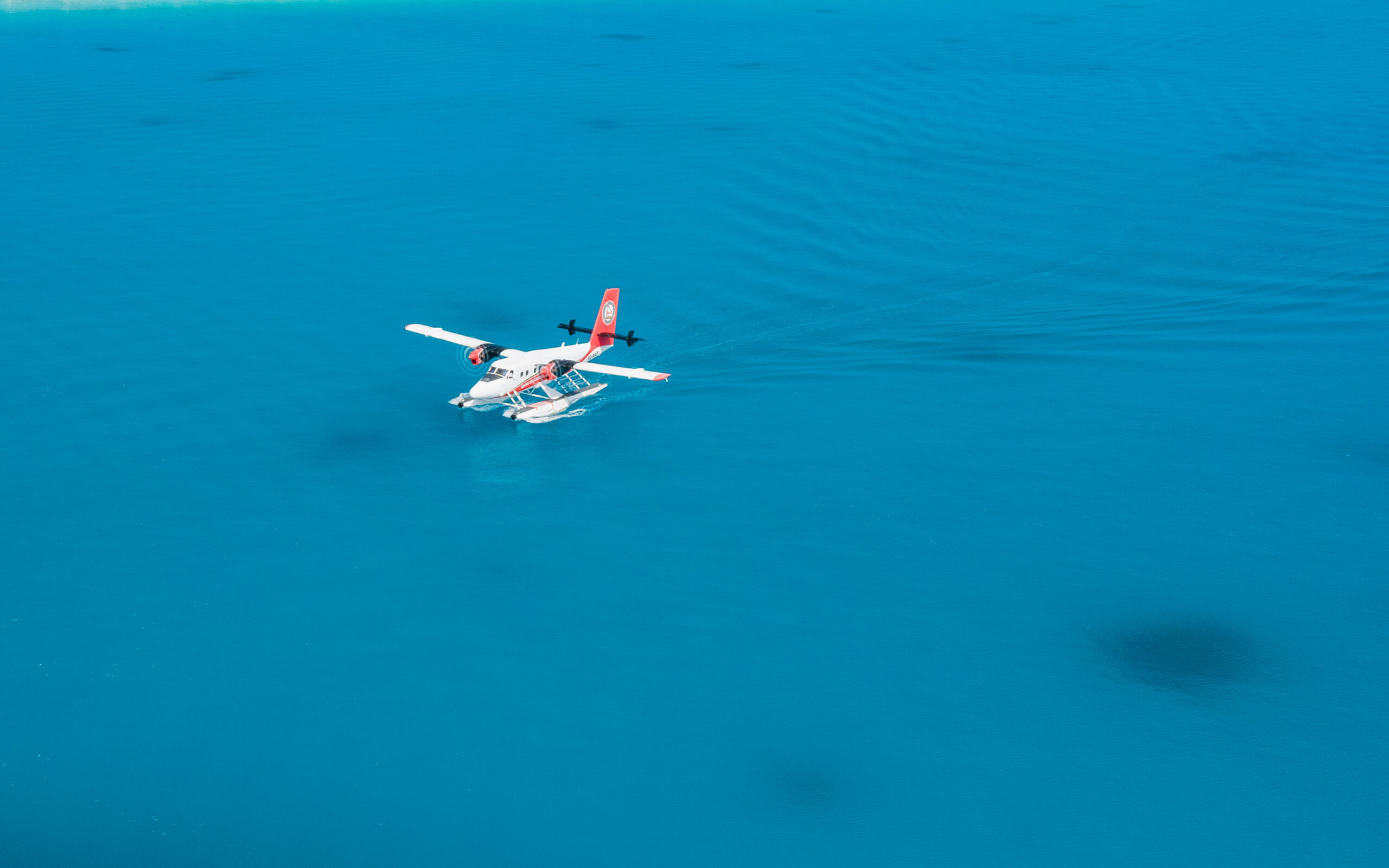 seaplane transfer for the baa atoll