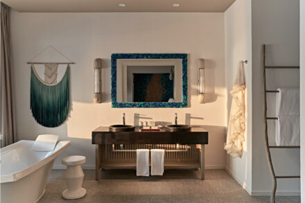 Luxoriöses Badezimmer der Ocean Pool Villa