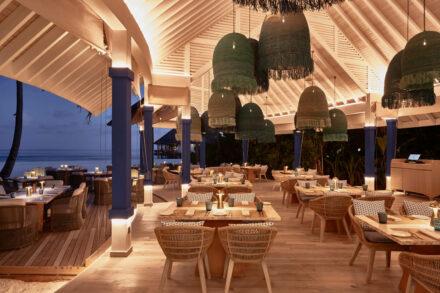 Das Restaurant Arabian Grill im Abendlicht