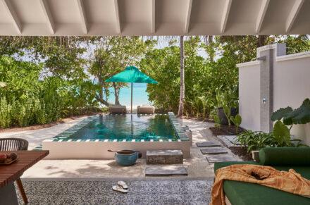 Terasse der Beach Pool Villa