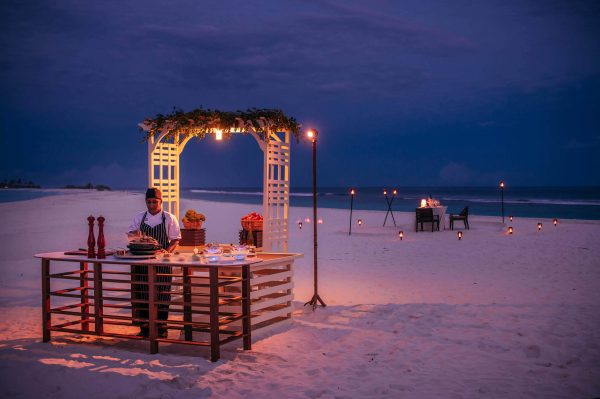 privat diner at beach