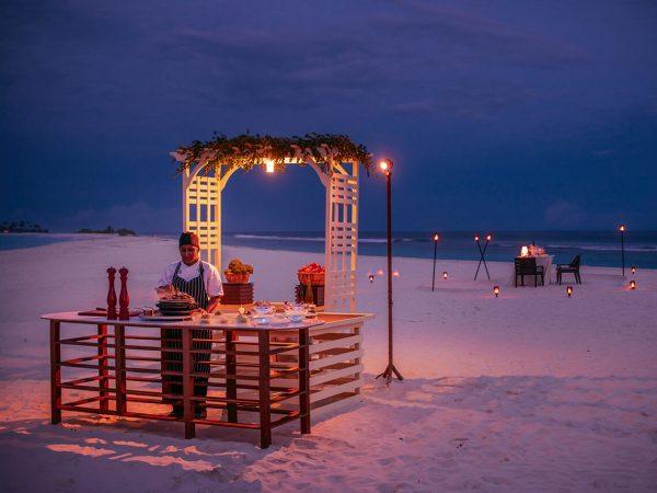 Romantic Private Candlelight Dinner on Finolhu Beach